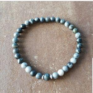Other - 🎄🎁 Zebra Jasper Beaded Bracelet